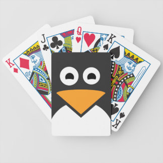 Penguin Face Bicycle Playing Cards