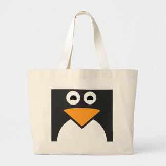 Penguin Face Large Tote Bag