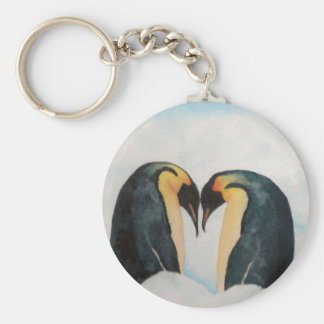 Penguin Face-Off Key Chains