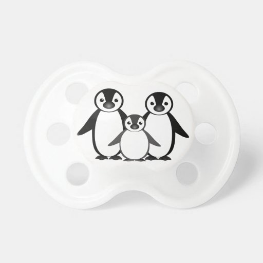 Penguin Family Baby Pacifiers