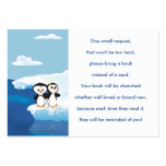 Penguin Family Book Request Card Large Business Card