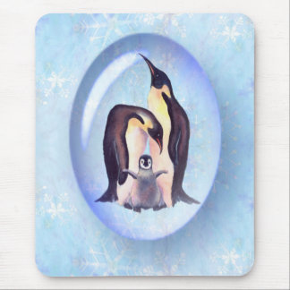 PENGUIN FAMILY BUBBLE by SHARON SHARPE Mouse Pad