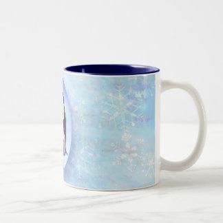 PENGUIN FAMILY BUBBLE by SHARON SHARPE Two-Tone Coffee Mug