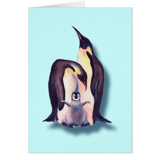 PENGUIN FAMILY by SHARON SHARPE Card