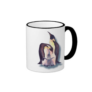 PENGUIN FAMILY by SHARON SHARPE Ringer Coffee Mug