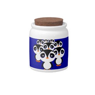 Penguin Family Candy Jar