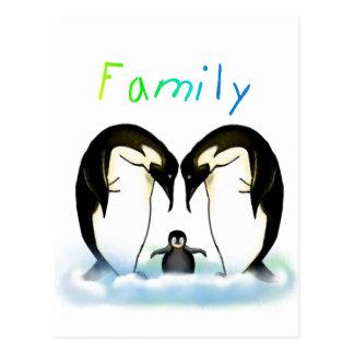 Penguin Family Card & Postcard