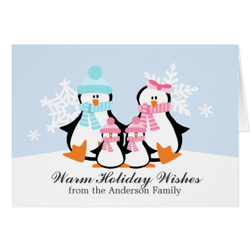 Penguin Family Christmas Cards