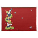 Penguin Family Christmas Cloth Placemat
