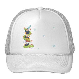 Penguin Family Christmas Trucker Hat