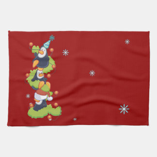 Penguin Family Christmas Kitchen Towels