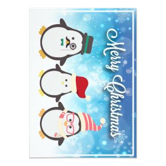 Penguin Family & Cute Reindeer Card