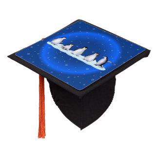 Penguin Family Graduation Cap Topper