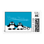 Penguin Family Holiday Postage Stamp