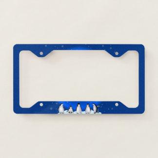 Penguin Family License Plate Frame