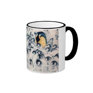 Penguin Family Ringer Coffee Mug