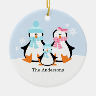 Penguin Family Ornaments