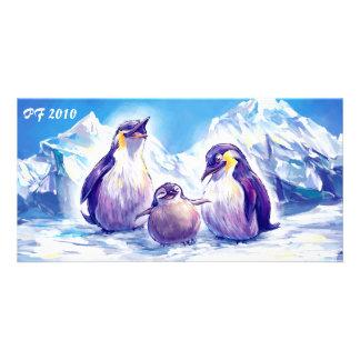 Penguin Family PF 2010 Photo Card