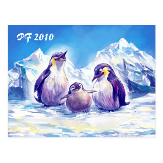 Penguin Family PF 2010 Postcard
