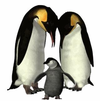 Penguin Family Photo Sculpture