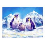 Penguin Family Postcard