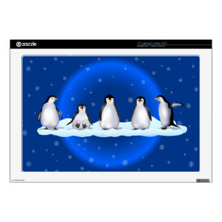 "Penguin Family Decal For 17"" Laptop"