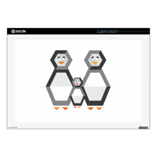 Penguin Family Laptop Decal