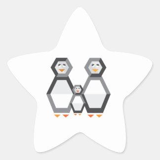 Penguin Family Star Sticker