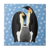 penguin family tile