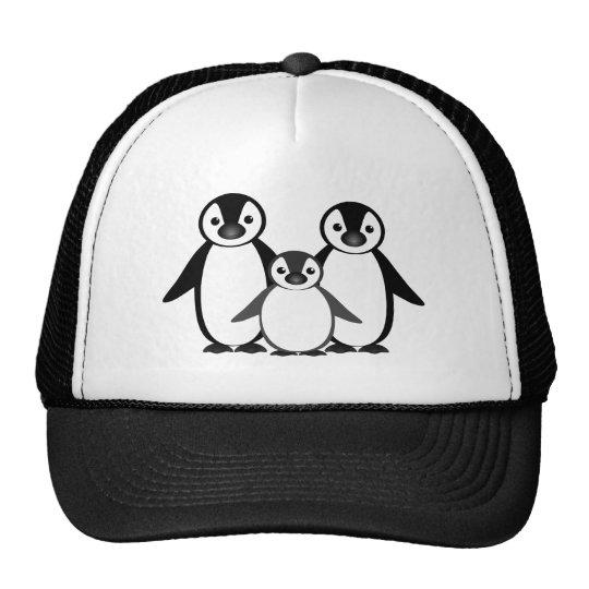Penguin Family Trucker Hat