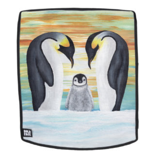 Penguin Family with Baby Penguin Backpack