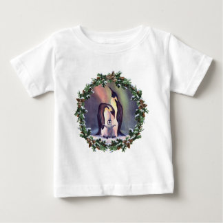 PENGUIN FAMILY & WREATH by SHARON SHARPE Shirt