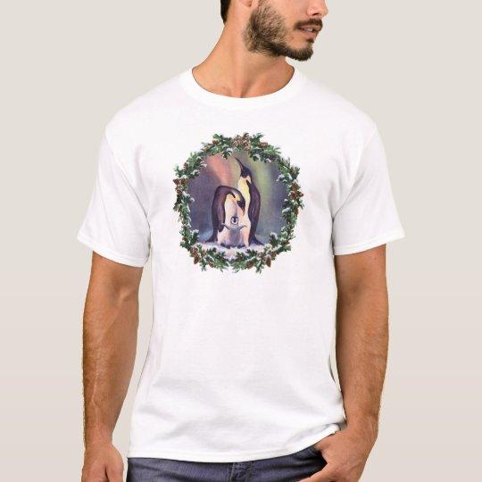 PENGUIN FAMILY & WREATH by SHARON SHARPE T-Shirt