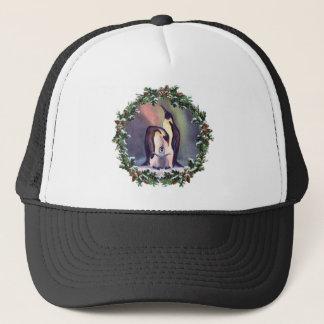 PENGUIN FAMILY & WREATH by SHARON SHARPE Trucker Hat