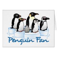 Penguin Fan Greeting Card