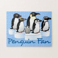 Penguin Fan 10x14 Photo Puzzle