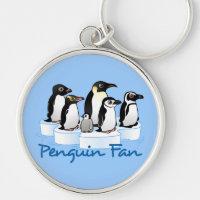 Penguin Fan Premium Round Keychain