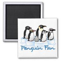 Penguin Fan Square Magnet