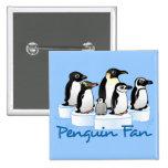 Penguin Fan Pinback Buttons