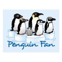 Penguin Fan Postcard