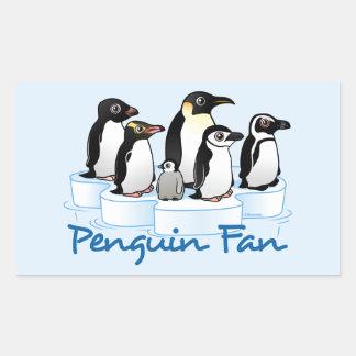 Penguin Fan Rectangular Sticker