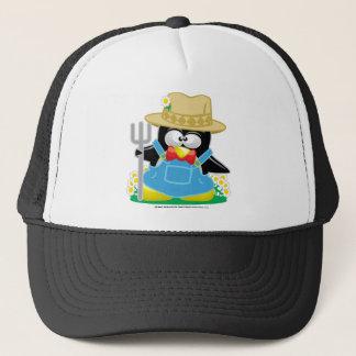 Penguin Farmer Trucker Hat