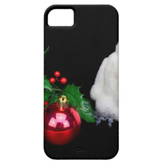 Penguin figurines  with red christmas ball iPhone SE/5/5s case