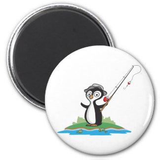 Penguin Fishing Magnet