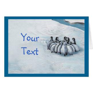 Penguin Flock Meeting Greeting Card