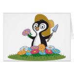 Penguin Flower Gardener Cards