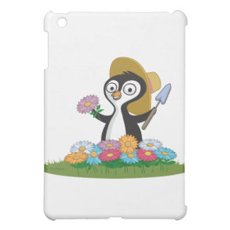 Penguin Flower Gardener Cover For The iPad Mini