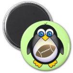 Penguin Football Fridge Magnet