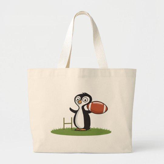 Penguin Football Large Tote Bag