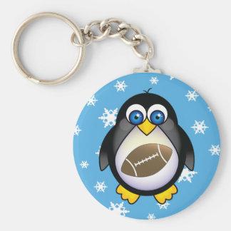 Penguin Football Snowflake Keychains